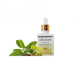 gold elixir brightening facial oil